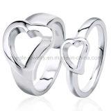 Monili dell'anello di barretta di modo di figura del cuore dell'argento sterlina 925 (GR010056)