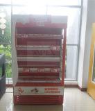 Tipo de refrigeración de Europa del escaparate del refrigerador abierto abierto de Multideck del supermercado