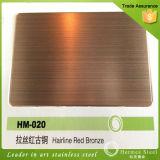Plaque de feuille balayée par couleur d'acier inoxydable de PVD pour le matériel de cuisine