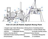 Planta de mistura do asfalto de Hlb-15 \ 20 \ 30 móbeis
