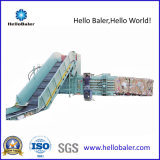 Prensa hidráulica horizontal Semi-Auto del desecho para la cartulina del papel usado