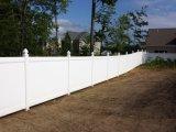 Cerca confidencial do PVC para a jarda e o jardim