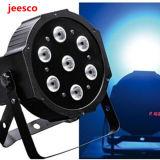 7PCS 12W 4in1 RGBW flaches LED NENNWERT Plastiklicht für Stadiums-Disco-Partei