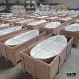 Bañera de piedra moldeada superficie sólida del fabricante de Kkr