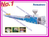 PVC/PE/PP hölzerne Plastikprofil-Maschinen-Strangpresßling-Maschine