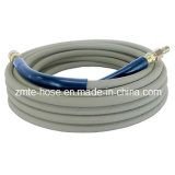 Boyau à haute pression de lavage de gicleur de tresse de fil d'acier de Colorized