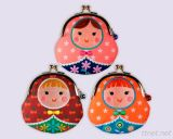 Русские портмона куклы, сублимация & портмона монетки вышивки