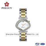 De levering voor doorverkoop Uw Glas van Sapphier van de Horloges van de Douane van het Embleem let op met het Horloge van de Juwelen van de Manier