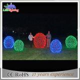 De LEIDENE van Kerstmis Decoratie steekt de Commerciële 3D Blauwe Ballen van het Motief aan