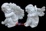 Ángel de cerámica de la estatuilla de la resina de los ángeles de la estatuilla