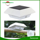 4 LED Square Solar Lamp PIR Sensor de Movimento Gutter Solar Solar Light Waterproof Fence Lamp LED Solar Garden Light