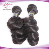Cabelo ondulado frouxo natural do Virgin do Mongolian 7A/8A de Hotsale