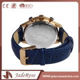 Kundenspezifische Formmens-Leder-Quarz-Uhr