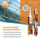 Sellante adhesivo estructural del silicón del certificado superior del grado para el pabellón de cristal del tragaluz