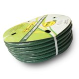 boyau de jardin renforcé résistant UV de PVC de 15m (50 ') avec l'amorçage de polyester