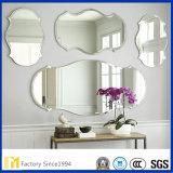Het het decoratieve Onregelmatig gevormde Zilver van de Muur of Glas van de Spiegel van het Aluminium
