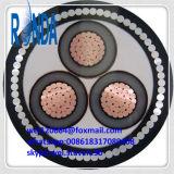 cabo distribuidor de corrente de cobre blindado subterrâneo de fio de aço de 8.7KV 10KV