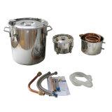 ÄTHANOLWASSER-Spiritus-Destillierapparat-Edelstahl-DampfkesselMoonshine des Hote Verkaufs-18L/5 Gallone Hauptnoch mit Thump-Faß