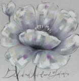 유럽 간단한 작풍 아름다움 꽃 화포 손으로 그리는 유화