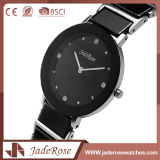 Reloj del deporte de la señora acero inoxidable con el vidrio mineral
