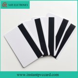 Le double dégrossit carte instantanée imprimable de PVC de piste magnétique