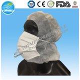 Spunlace使い捨て可能な柔らかいヘッドカバー、外科帽子