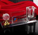 De optische Houder van de Pen van het Kristal van de Pot van de Borstel van het Kristal van het Glas Goedkope