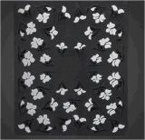 Etiqueta preta elegante do prego das etiquetas da arte do prego de Sun da flor 3D branca