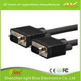 Alambre del VGA del cable del enchufe del oro para el ordenador