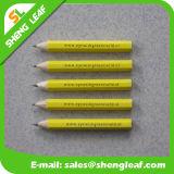Пурпуровый круглый короткий карандаш с одним цветом логоса печати