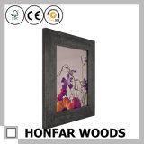 Frame de retrato de madeira do preto moderno da esteira que molda para a galeria