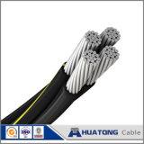 Câble triphasé d'ABC d'isolation en aluminium des conducteurs XLPE