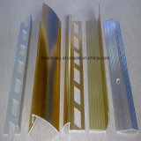 Gold / Silver Color Anodized Aluminium Stair Nosing / Tile Trim