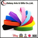 Bracelet en caoutchouc de bracelet/élastique/silicones de couleur solide de cadeau de promotion
