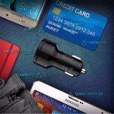 Ukey pour Qualcomm Quick Charger 3.0 9V 12V 2 ports mini chargeur voiture USB pour iPhone 7 6s iPad Samsung HTC Xiaomi QC2.0 Compatible