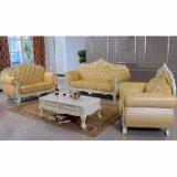 Sofá ajustado com frame do sofá e a tabela de madeira (D619D)