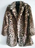 Alta calidad de la piel del Faux de la impresión del leopardo caliente