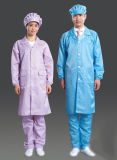 Cleanroom-Arbeitskleidungs-Mantel zur Sicherheit mit fusselfreiem