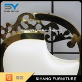 Design francês de casamento de luxo cadeira de jantar de aço inoxidável