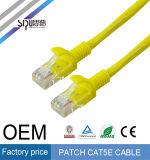 Câble d'ordinateur de fiche de RJ45 de cordon de connexion de Sipu CCA UTP Cat5e