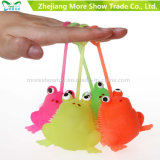 Novelty Multicolor Puffer Frog Yoyo Light Up Ball Kid Toys