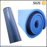 Estera azul antirresbaladiza de alta densidad de la yoga del suplemento 15m m NBR