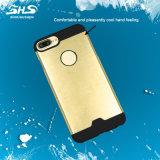 Shs aplicó la caja híbrida material del teléfono celular con brocha de la disipación de calor del metal del efecto para el iPhone 7