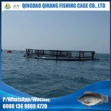 Gaiola de flutuação circular dos peixes da água profunda do HDPE