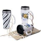 Taza de café de cerámica, taza promocional de la porcelana con la tapa