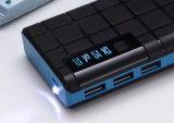 ユニバーサル10000mAh携帯用充電器の充満のための3つのUSBポートが付いている移動式バンクか動力源