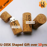 USB Pendrive de madera del corcho del vino rojo para los regalos de consumición (YT-8130)