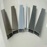 Profil en aluminium d'enduit de poudre pour le guichet et la porte
