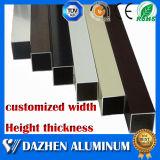 6000의 시리즈 양극 처리하는을%s 가진 직사각형 정연한 관 관 알루미늄 알루미늄 단면도