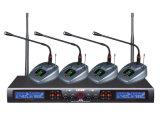 Microphone sans fil de radio de fréquence ultra-haute de canaux doubles de système du microphone Ls-960